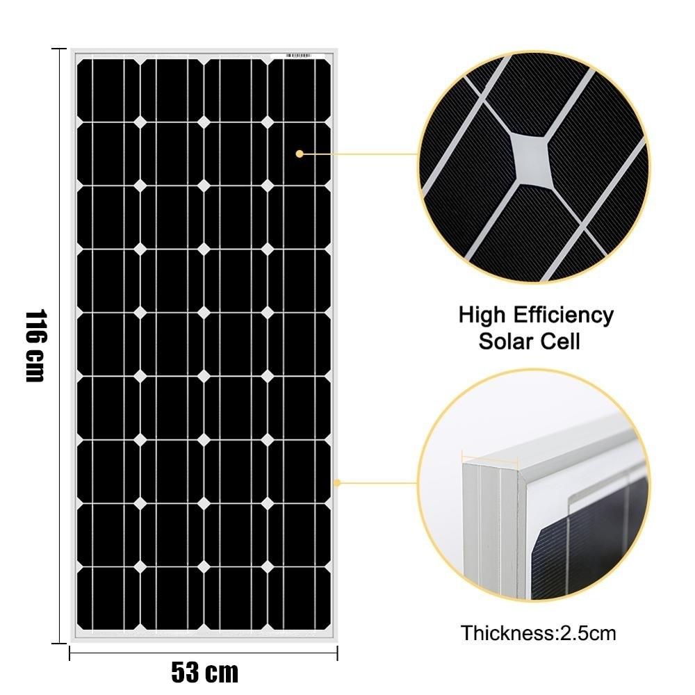 Xinpuguang painel solar de vidro 100w 200w