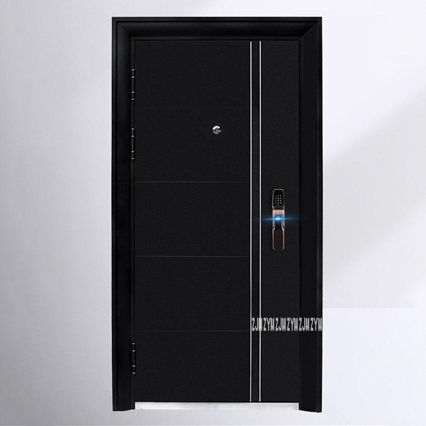 KR-9005 ménage Simple porte d'entrée porte Anti-effraction porte Anti-vol porte de sécurité avec serrure intelligente/serrure mécanique