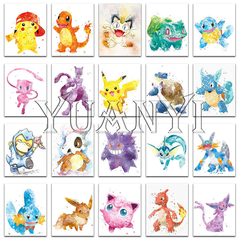 5D DIY Diamant malerei Cartoon Pikachu pokemon Volle Quadratmeter Diamant stickerei Kreuz stich Decor Volle Runde Diamant mosaik katze