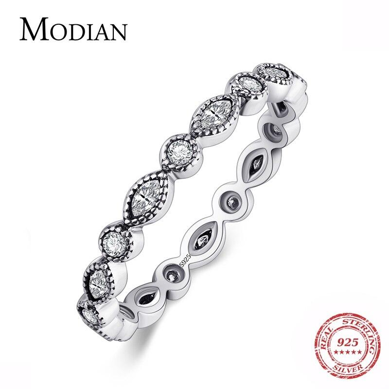 Modian подлинное серебро 925 пробы сверкающие кольца для женщин CZ ювелирные изделия кольцо на палец обручальные кольца Bague модные аксессуары|sparkle rings|fashion rings for womenrings for women | АлиЭкспресс