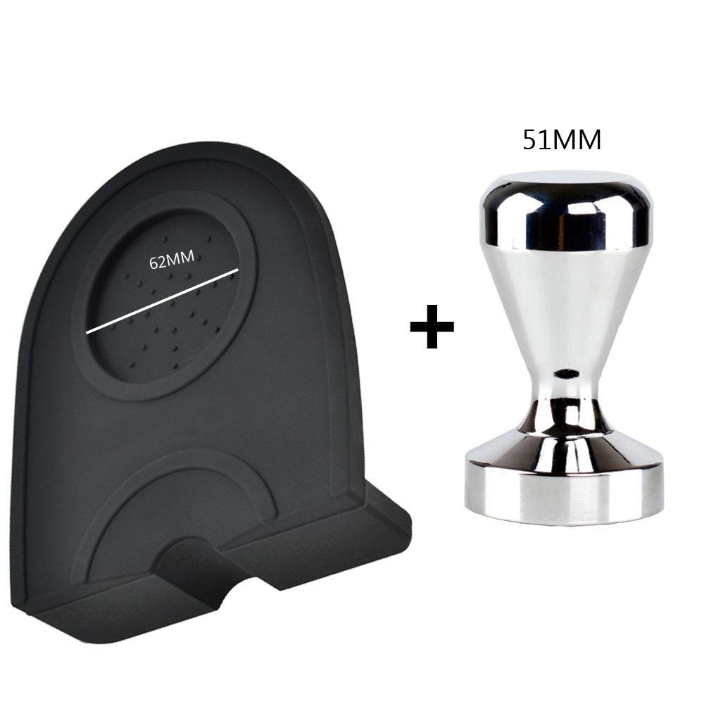 Espresso 51/53/58MM Cokelat Kehitaman Tamper Mat Kualitas Tinggi Karet Silikon Gangguan Sudut Tikar Kopi