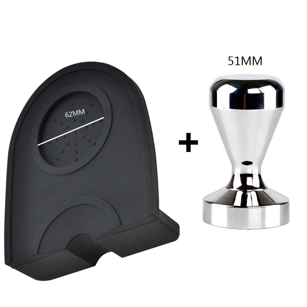 Espresso esteira de café, tampa de silicone de alta qualidade com tampa, tapete de canto inviolável, 51/53/58mm
