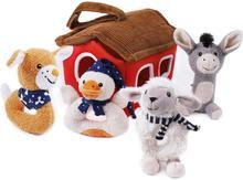 iPlay, iLearn Plush Baby Rattle Toys Set Soft Ring Rattles to Development Grip, Shaker, Sensory Newborn Gift for 3 6 9 10 12 M