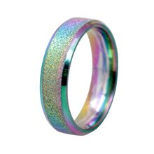 1pc Simple Matt Scrub Ring for Unisex Woman Men Rainbow Color Ring Colorful Rings Jewelry Accessories Lover Gifts(China)