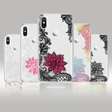 Ultra Thin Lace Flower Phone Case Painted Clear Soft TPU Silicone Protective Back Cover Skin for Samsung Galaxy J3 J4 J6 J7 Star s line wave back skin ultra thin tpu protective case cover for iphone 5c
