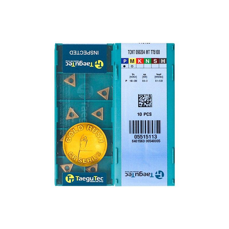 TCMT090204-MT TT5100 100% Original TAEGUTEC Carbide Insert With The Best Quality 10pcs/lot Free Shipping
