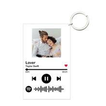 Chaveiro de código de digitalização de spotify de música personalizada para presentes dos homens