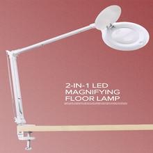 10X זכוכית מגדלת LED Stepless עמעום שולחן אור אור יום קרפט זכוכית שולחן מנורת רב פונקצית שולחן העבודה מגדלת מנורה
