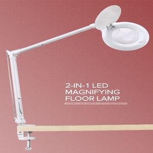 Image 1 - 10X Vergrootglas Led Traploos Dimmen Bureaulamp Daglicht Ambachtelijke Glazen Tafellamp Multifunctionele Desktop Vergrootglas Lamp