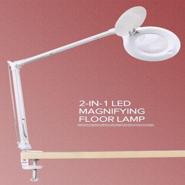 10X Vergrootglas Led Traploos Dimmen Bureaulamp Daglicht Ambachtelijke Glazen Tafellamp Multifunctionele Desktop Vergrootglas Lamp