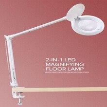 10X lupa LED bezstopniowa ściemniająca lampka na biurko Daylight Craft szklana lampa stołowa wielofunkcyjna lampa powiększająca pulpit