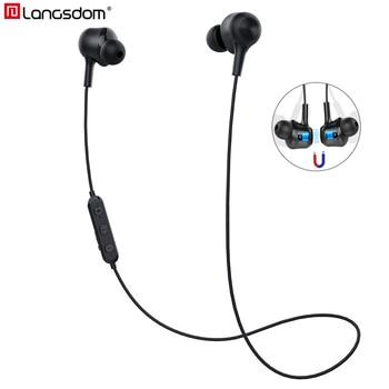 цена на Langsdom L17 Sports Bluetooth Wireless Earphones with Mic Sports Bluetooth Headphone for Xiaomi Huwei fone de ouvido bluetooth