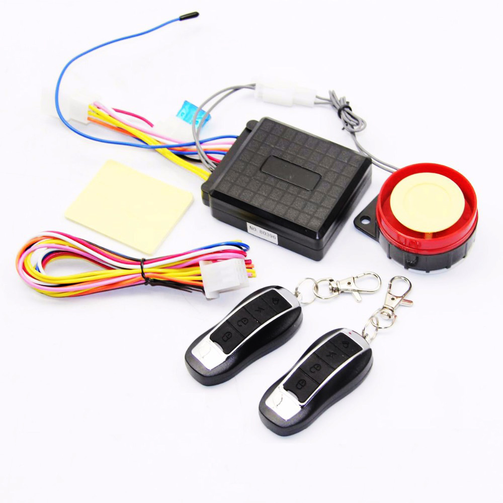 Universal Motorcycle Alarm System Scooter Anti-theft Security Alarm System Two-way With Engine Start Remote Control Key Fob