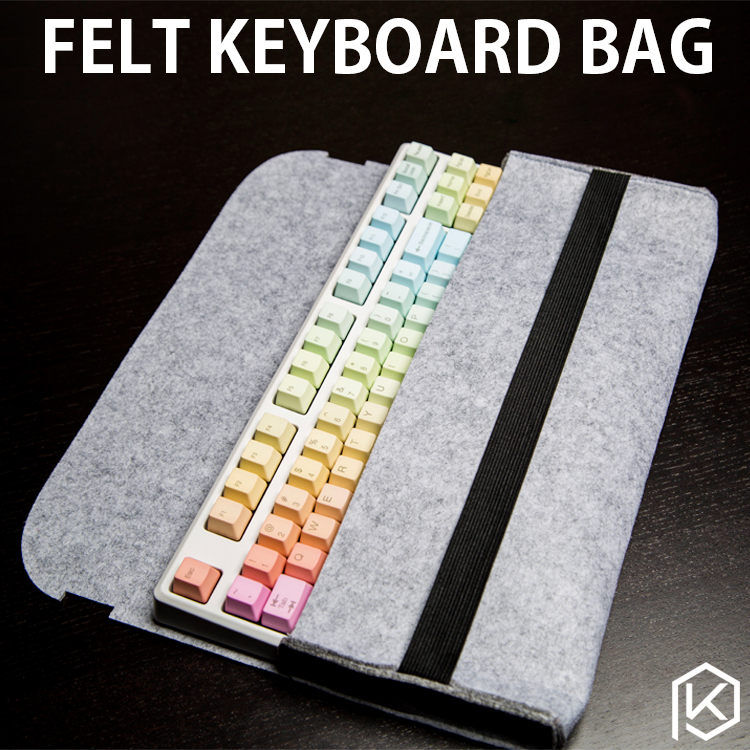 Soft Felt Keyboard Carrying Case Bag For Planck Preonic Gh60 Xd64 Tada68 87 104 Va68 K65 K70 K95 3000 3494