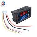Цифровой вольтметр, амперметр, 0,56 дюйма, 100 в, 10 А, синий, красный, светодиодный