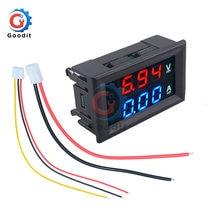 0.56 polegada mini digital voltímetro amperímetro dc 100 v 10a painel amp volt tensão medidor de corrente testador azul vermelho duplo display led