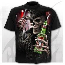 Camiseta con temática de fantasma de terror para hombre... ropa de calle a la moda tops con estampado 3D... camisa informal mang