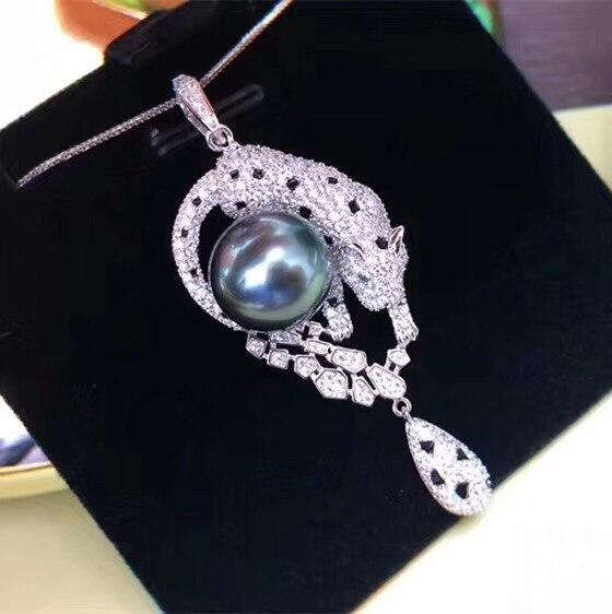 Style populaire 925 pendentif en argent réglage Base pièces de montage pendentif résultats pour Akoya Edison perles coraux perles de Jade