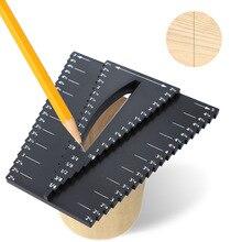 Woodworking ruler caliper 1/8-5 center square line inch precision measuring tool