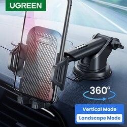 Soporte de teléfono Ugreen para el coche, soporte de teléfono móvil para el coche, soporte de soporte móvil para iPhone 11 8, soporte de ventosa para coche