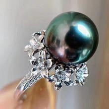 Chegada nova pérola anel montagens descobertas ajustável anel conjunto de jóias peças acessórios charme jóias de prata