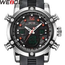 WEIDE Men Watch Relogio Masculino Date Alarm Back Light Time Zone Quartz Top Brand Men Watch Men Digital Wrist LCD Men's Watches цена 2017