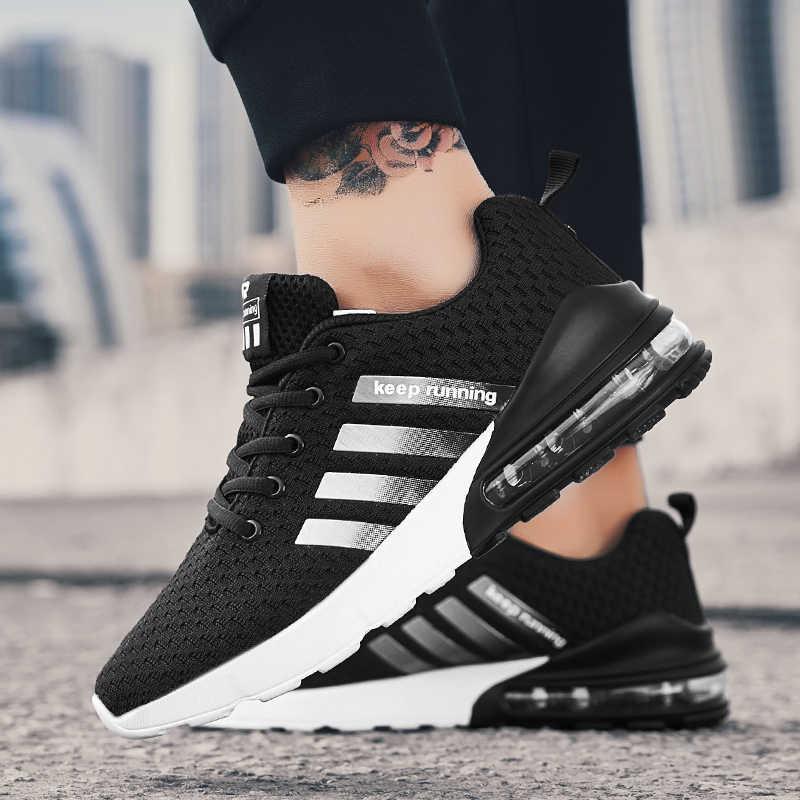 2019 جديد حذاء رجالي المدربين المشي أحذية رياضية مريحة مصباح أنيق أحذية الرجال حجم كبير أسود 13 أبيض