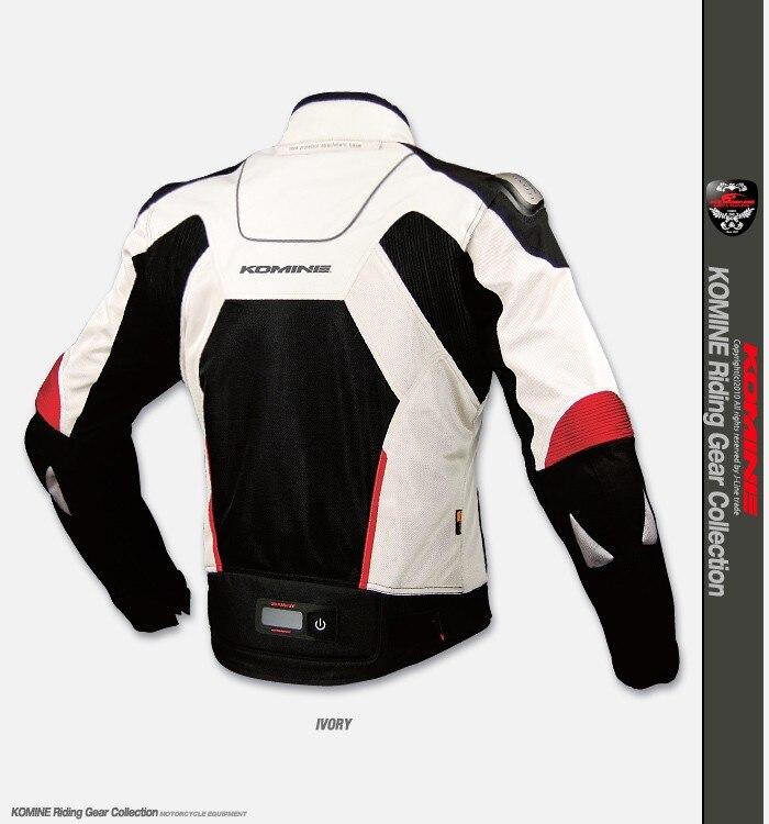 Pour KOMINE JK015 haute performance en alliage de titane résistance aux chutes vestes maille été course moto veste 7 pièces protecteur - 2