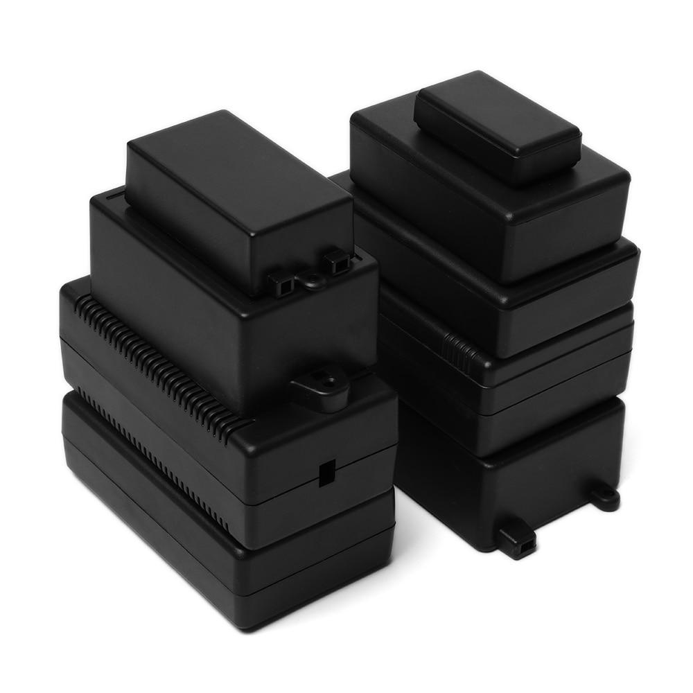 2 шт. черный корпус DIY корпус прибора ABS пластиковый проект коробка ящик для хранения корпус коробки водонепроницаемые электронные принадлежности