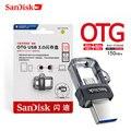 Двойной Флеш-накопитель SanDisk OTG USB флэш-накопитель 32 Гб оперативной памяти  16 Гб встроенной памяти USB 3 0 двойной мини флеш-накопитель 256 ГБ 128 150 ...