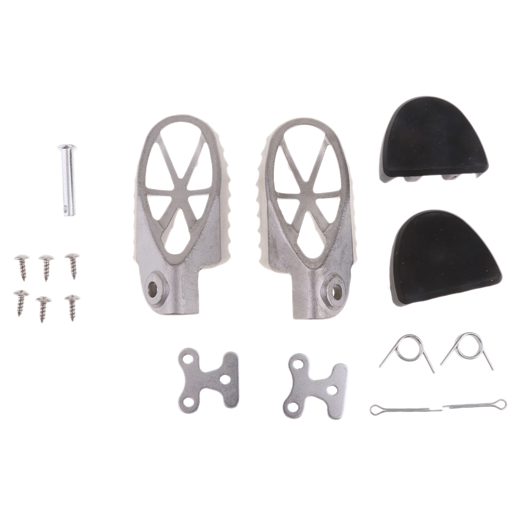 Foot Pegs Rest Footpegs With Rubber Protector For Yamaha PW50 PW80 TW200 PW 50 80 TW 200 Dirt Bike