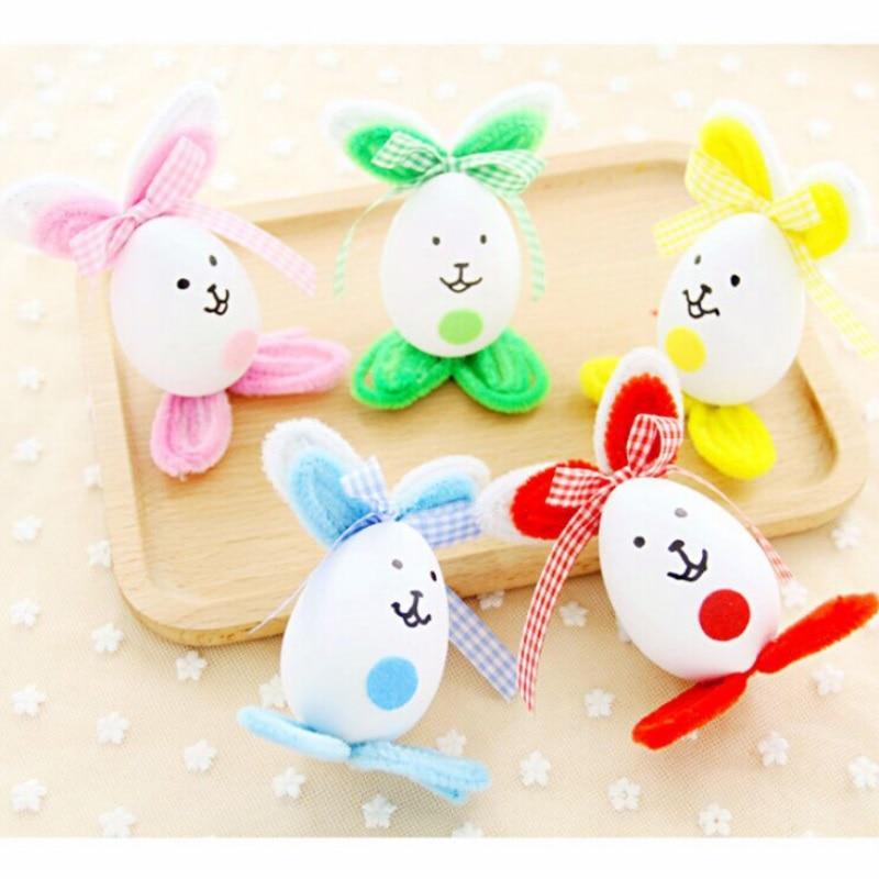 Easter Egg DIY Cute Bunny Home Decoration Kindergarten Handcraft Educational Kids Toys Christmas Birthday Gift
