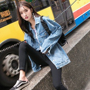 Jackets Women Streetwear Thin Ulzzang Spring Autumn Trendy New Loose Korean Style Female Harajuku Womens Clothing Chic Casual