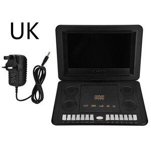 Jogo de tv usb tela lcd 13.8 polegada 16:9 vcd widescreen hd bateria recarregável carro casa vídeo portátil dvd player