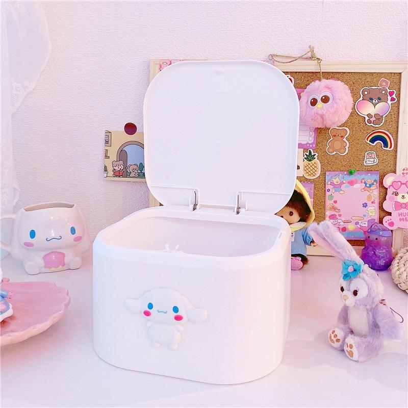 New Cinnamoroll Plastic Storage Box First Aid Box Kit Medicine Box Holder Organizer Portable Multi-use Household Container
