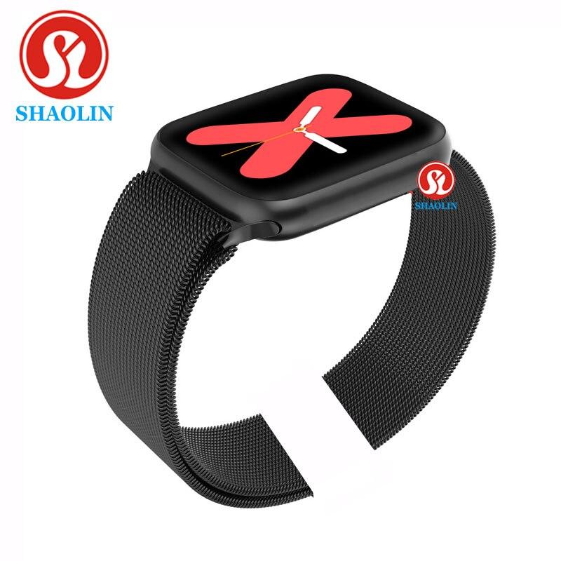 44MM Smart Uhr Serie 5 für Apple Uhr Android telefon Mit Herz Rate Monitor Bluetooth SmartWatch Update PK IWO 10 11 12 1:1
