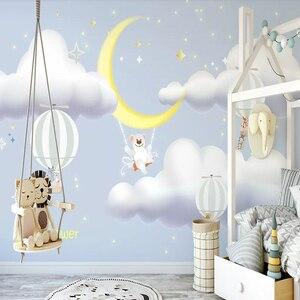 Milofi 3D обои на заказ, ручная роспись, звездное небо, лунный свет, воздушный шар, фон, украшение стены, живопись