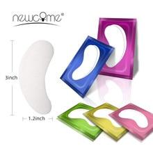 Newcome 20/50/100 Paare Wimpern Verlängerung Alle Farbe Eye Gel Pads Gepfropft Eye Aufkleber Eyelashe Erweiterung Papier Patch Make-Up-Tool