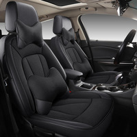 Custom car seat cover leather front rear set for auto mini clubman coupe countryman paceman car Interior Accessories cover