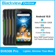 Blackview BV6300 Pro Helio P70 6GB + 128GB IP68 wodoodporny wytrzymały smartfon 4380mAh Android 10 NFC 4G telefon komórkowy wersja globalna tanie tanio Nie odpinany CN (pochodzenie) Rozpoznawania linii papilarnych Inne 16MP Nonsupport Smartfony Pojemnościowy ekran Angielski