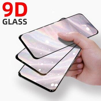 Перейти на Алиэкспресс и купить 9D закаленное стекло для Vivo Y19 Y11 2019 Y12 X30 X21 X20 Plus X7 X6 V9 V17 Pro, Защитное стекло для экрана с черным краем