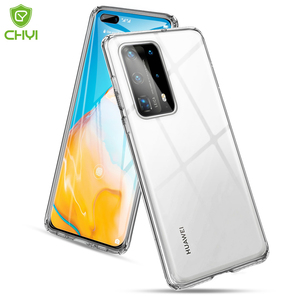 Luxury Transparent Shockproof Phone Case for Huawei P40 Pro+ TPU Bumper with hard back Scratch proof case p40 pro plus 5G