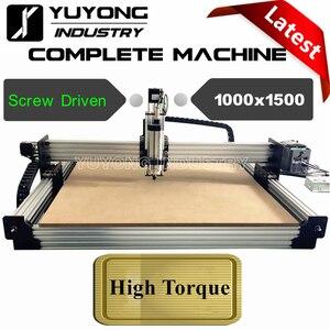 Tornillo accionado 1000mm x 1500mm último V2.3 con sistema de tensión WorkBee CNC kit completo máquina de grabado de Metal de madera