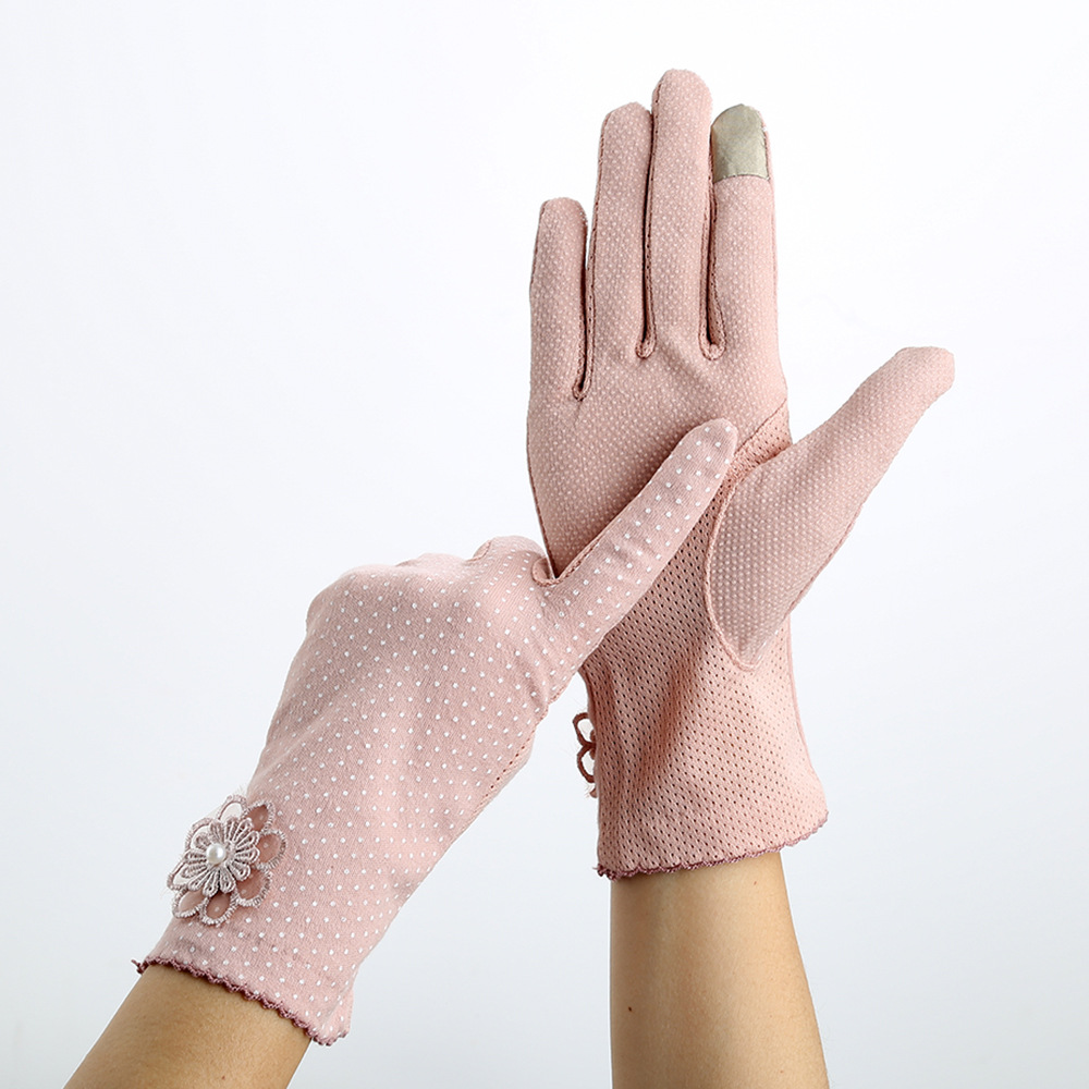 Summer Women Sunscreen Gloves Lady Stretch Touch Screen Anti Uv Slip Resistant Driving Glove Spring Breathable Guantes