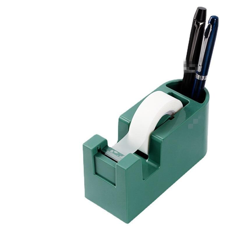 Tape Dispenser Portable Washi Tape Cutter Pen Holder Storage Organizer Glue Adhesive Paper Machine Base Seat Desktop Cutting