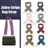 Einstellbare DIY Handtaschen Strap Frauen Nylon Zebra-Streifen Crossbody Nylon Tasche Strap Schulter Gepäck Tasche Griffe Zubehör