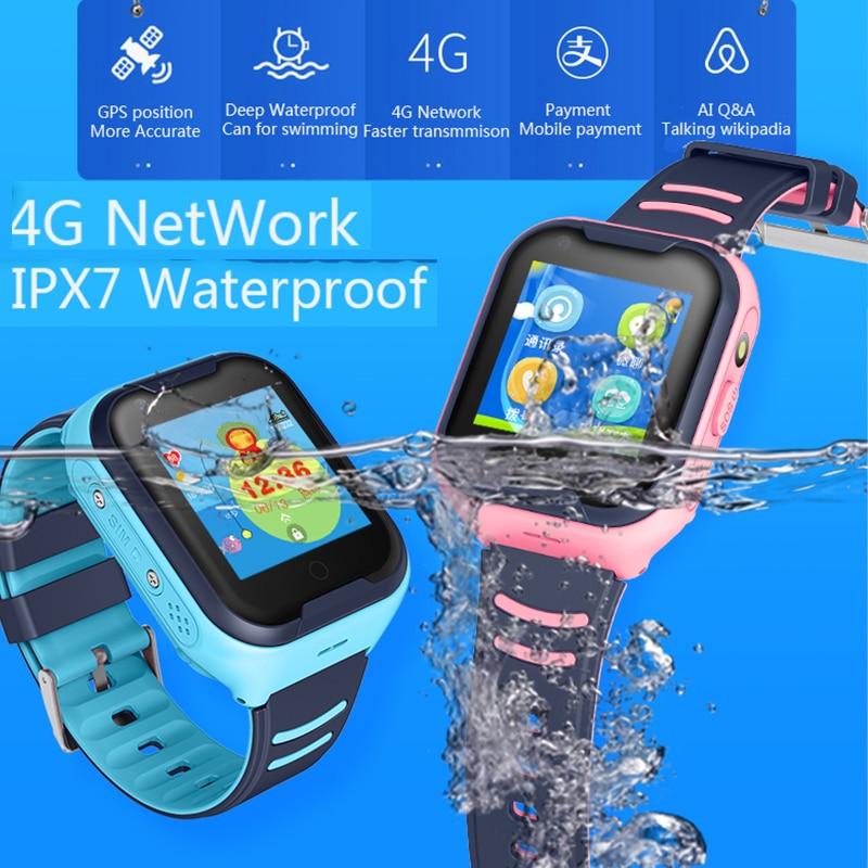GPS montre SOS montre enfants téléphone montre Wifi étanche vidéo appel Smartwatch 1.4 pouces enfants horloge intelligente caméra bébé montre pk d8 - 3