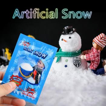 10pcs Artificial Snow Instant Fluffy Snow Powder Snowflake Super Absorbent Frozen Magic Party Wedding Decoration Christmas Gifts image