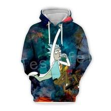 Tessffel Anime Rick and Morty New Fashion Funny Colorful Cartoon Tracksuit 3DPrint Hoodie/Sweatshirt/Jacket/shirts Men Women s-9