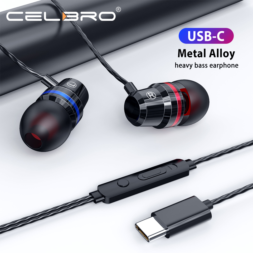 Проводные наушники типа C с микрофоном, Hi-Fi наушники, спортивные наушники-вкладыши, гарнитура для Xiaomi Mi 10 9 Pro, Samsung S20 Plus, видеоигр